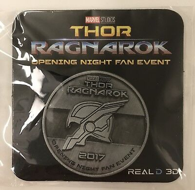 Exclusive THOR RAGNAROK COIN Medallion Limited MARVEL SERIES 2017 1 oz Pewter