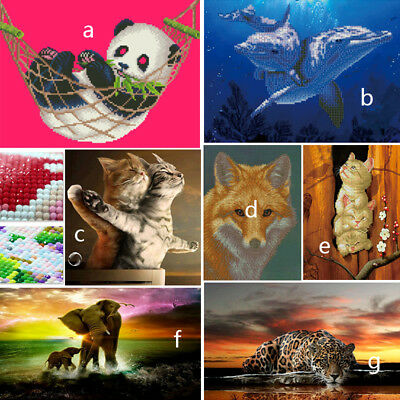 AU 5D Diamond Embroidery Painting DIY Animal Stitch Craft Kit Cross Home Decors