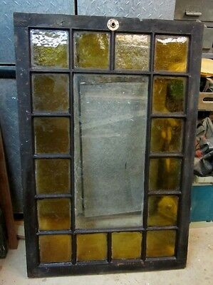 Large Antique Stained Glass Skylight Window