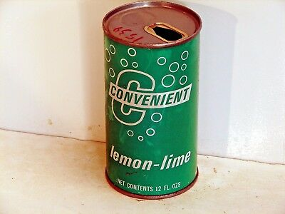 Convenient Lemon-Lime; Interstate Canning Co.; Louisville KY; steel soda pop can