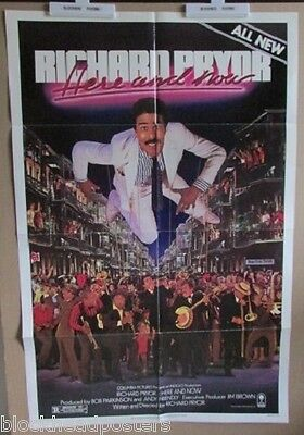 Richard Pryor Here And Now~1 Sheet~Original~Movie Poster~1983~Comedy