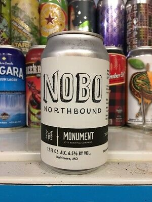 Monument City Brewing. NOBO Pale Ale. Craft/Micro Beer Can. MD