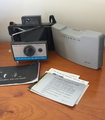 Polaroid 210 Land Camera Great Working Condition With Original Books!