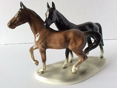 Horse Porcelain Ceramic Figurine with Markings