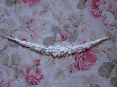 "New! Shabby Chic Rose Swag Garland 17 1/4"" Furniture Applique Architectural"
