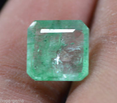 Natural 2.70 Ct Nice Emerald Shape EGL Certified Green Emerald Loose Gemstone