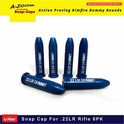 A Zoom 6pk Rifle Snap Caps .22lr Made In Usa Firing Pin Dummy Round Shoot