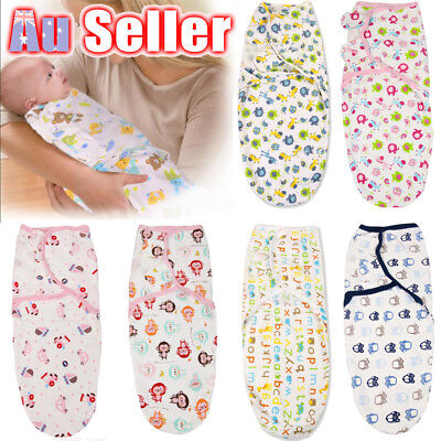 Baby Infant Swaddle Me Baby Wrap Swaddling Blanket Newborn Sleeping Bag Cotton