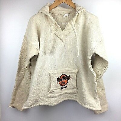 Hard Rock Cafe Mexico Hoodie XL Pull Over Sweater Unisex Poncho Mens Womens