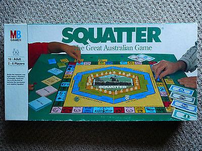 Vintage SQUATTER-The Australian Wool Game board game- COMPLETE VGC