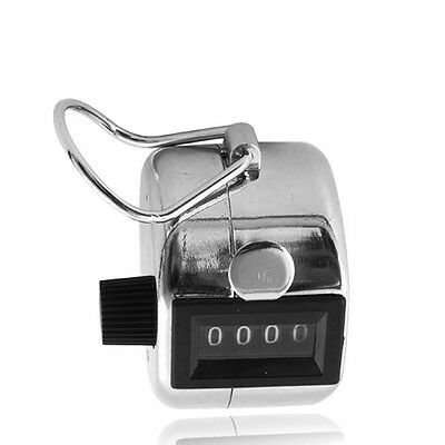 Portable Hand Tally 4 Digit Number Clicker Golf Hand Held Palm Tally Counter