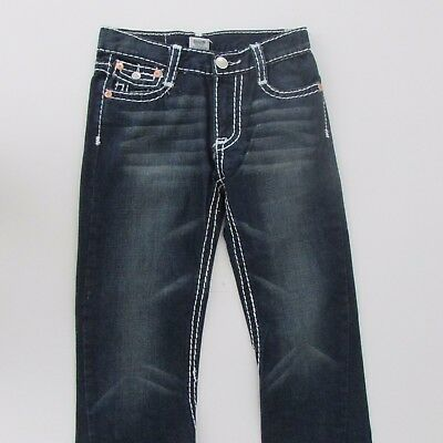 True Religion Size 14 W24 L28 Boys Dark Blue Denim Jeans Billy Super T (E3)
