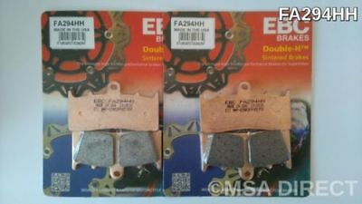 BMW R1200R (2006 to 2014) EBC Double-H Sintered FRONT Brake Pads (FA294HH x 2)