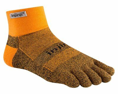 Injinji Trail Mid-Weight Mini-Crew COOLMAX® Technology - Size Small Tangerine
