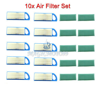 10x Air Filter Set for Briggs & Stratton 5077H 5077K Husqvarna 578 45 12-02