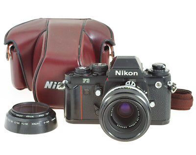 Nikon F3 SLR 35mm Film Camera #1263876 with Micro Nikkor P 3.5/55 mm
