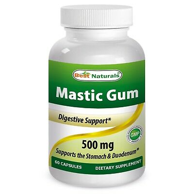 Mastic Naturals Gum 500 mg 60 Capsules Supports Health Comfort of Stomach Cell