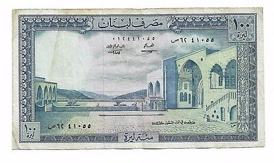 LEBANON - LIBAN , 100 Livres 1968 Banknote , in Good condition , SEE SCAN