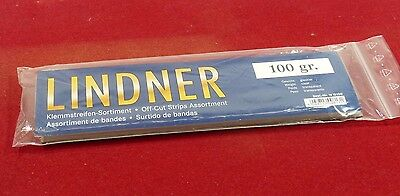 Lindner Stamp mounts 100gms kiloware mixed strips clear backed