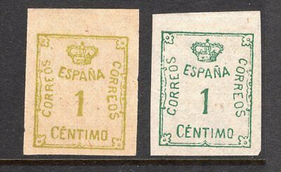 Spain 2 x early imperf issues see scans x 2