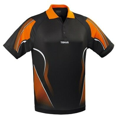 Tibhar Trikot Magic sw/orange  Polo Shirt  Badminton Tischtennis Polo