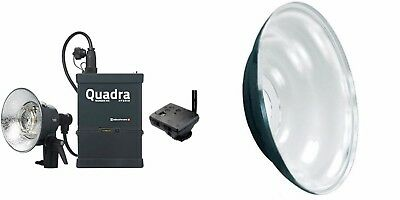 "Elinchrom Ranger Qaudra Hybrid, Pro Flash Head,& Mola Demi 22"" Beauty Dish"