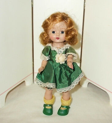 """Vintage Fortune Toys Ninette Walking 8"""" Doll """"Little Miss Muffet"""" AO 1950s   EXC"""