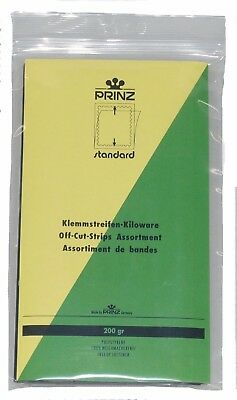 Prinz Stamp mounts 200gms kiloware mixed strips CLEAR backed