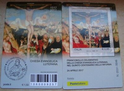 Italien, Italy, Italia, 2017 Luther Lutero  500 Reformation, philately card