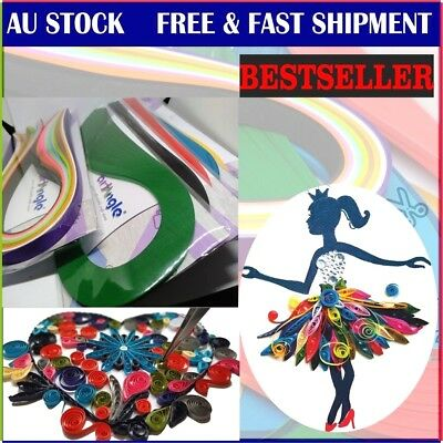 100 Strips 5mm Quilling paper Select from 14 color FREE shipment