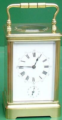 Henry Jacot Reveil Antique French Grande Corniche 8 Day Alarm Carriage Clock