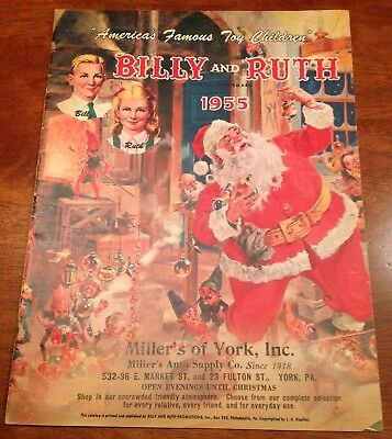 1955 Billy & Ruth Toy catalog York PA Christmas Santa Hubley Lionel Fisher Price
