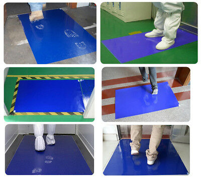 Sticky Mat Contamination Laboratory Clean Room Blue10 mats 300 Sheet Tacky