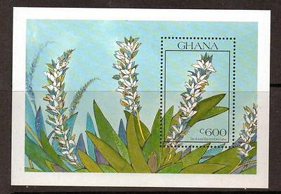 GHANA SGms1488a 1990 ORCHIDS  MNH