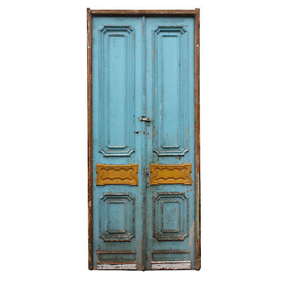 "Salvaged Pair of Antique 46"" Double Doors, NED739"