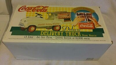 Coca Cola Collectible Pedal Car Deluxe Delivery Truck 1:3 limited edition 10,000