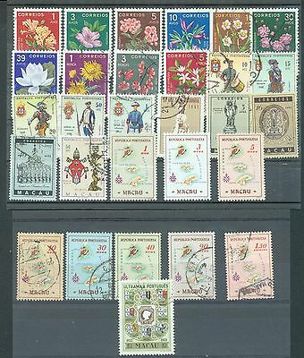 Macao 1952-67 selection of 29 used or MH
