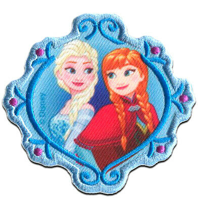 """8,5x4,2cm Iron on patches FROZEN /""""ELSA 1/"""" Application Embroided bad blue"""