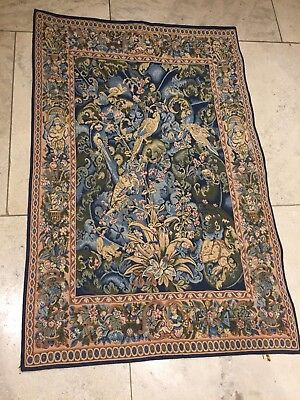 Gorgeous French Tapestry - Tapisseries du lion blues/pinks 68cm x 104cm