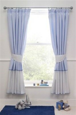 Bnip Next Ocean Days Narrow Width Pencil Pleat Blackout Curtains 117 X 137 Cm