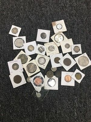 29 Coins Lot American and world coins Many silver coins Silver Lot