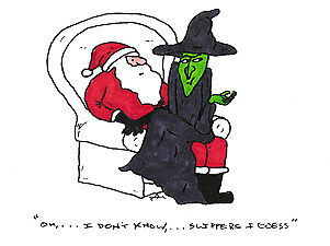 30 boxed sets funny christmas cards envelopes santa wicked witch