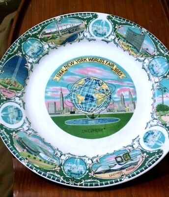 1964-1965 New York Worlds Fair Ceramic Souvenir Collector Plate UNISPHERE