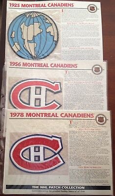 3 Montreal Canadiens Willabee & Ward Official Nhl Hockey Patch 1925, 1956, 1978