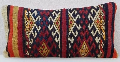 12''X24'' Area Rug Kilim Rug Lumbar Pillow Cover, Long Decorative Couch Cushion