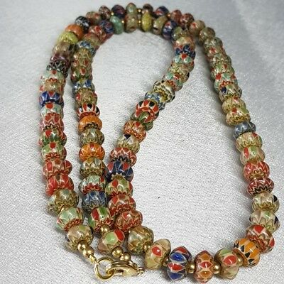 Lovely Old Stunning Islamic Glass Unique Beads Wonderful Necklace    # z1