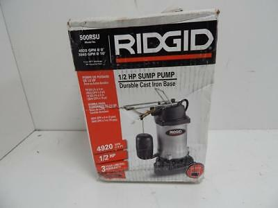 Ridgid 500RSU 1/2 HP Sump Pump Durable Cast Iron Base	735635	B0639
