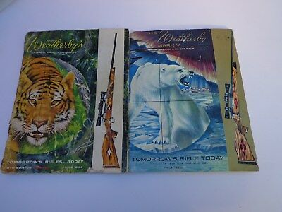 Pair of Weatherby Mark 5 rifle catalogues 1959 1960 1961 1962