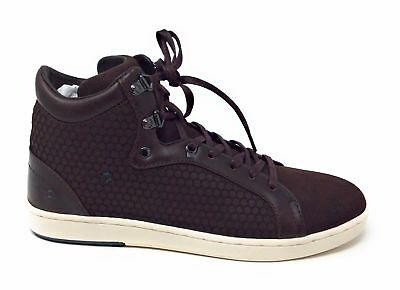 a28523049 Ted Baker Mens Alcaeus High Top Fashion Sneaker Brown Leather   Suede Size  7.5 M