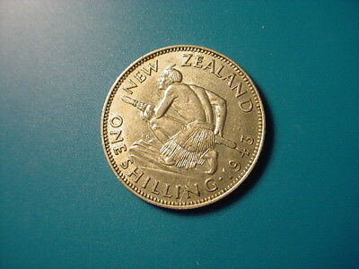 New Zealand - Silver - 1943 Shilling In Excellent Condition